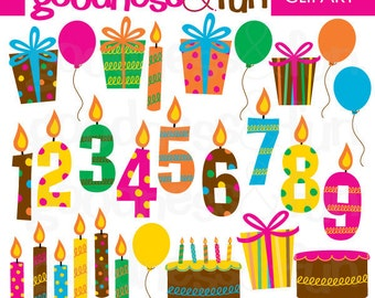 Buy 2, Get 1 FREE - Birthday Extravaganza Clipart - Digital Birthday Clipart - Instant Download