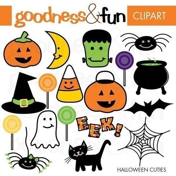 Buy 2, Get 1 FREE - Halloween Cuties Halloween Clipart - Digital Halloween Clipart - Instant Download