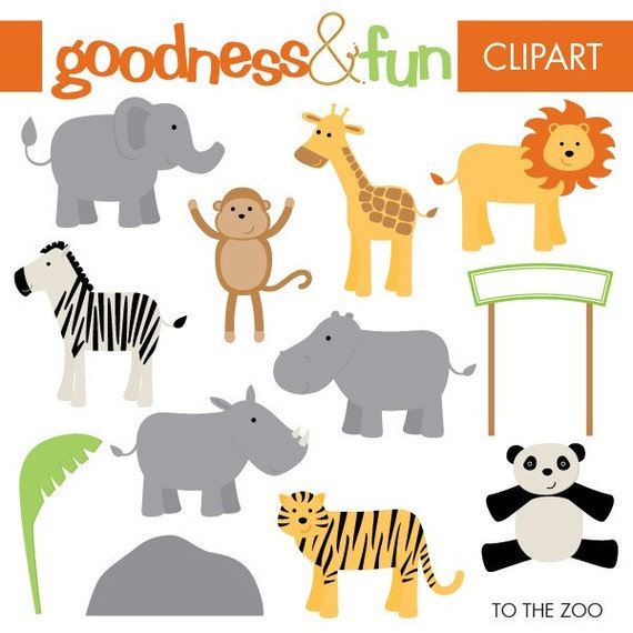 Buy 2 Sets, Get 2 Sets FREE - Digital Clipart - To The Zoo