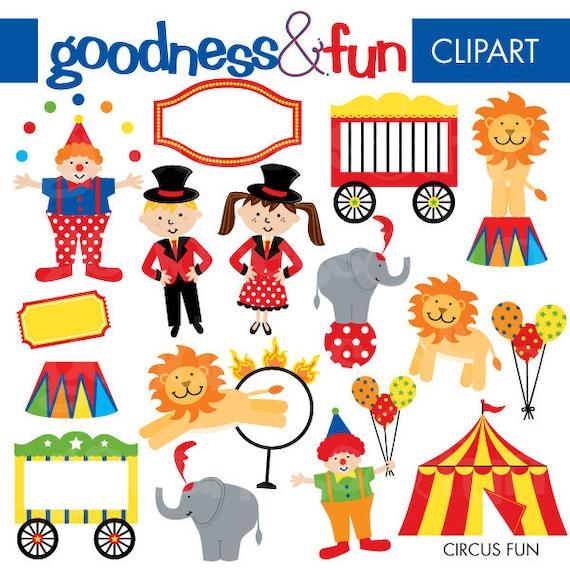 Buy 2, Get 1 FREE - Circus Fun Clipart - Digital Circus Clipart - Instant Download