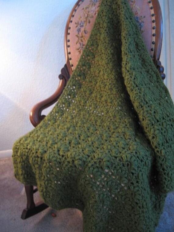 Toddler Blanket in Mandarin Fan Stitch