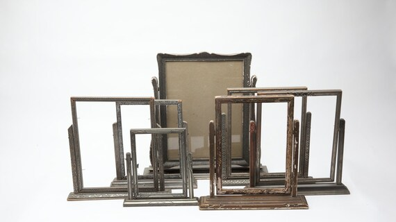 Collection of Seven Antique Wood Swivel Frames