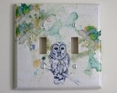 Owl Decorative Light Switch Cover Great Room Decor For Kids Baby Nursery and Any Owl Lover