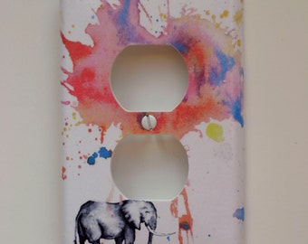 Elephant Decorative Outlet Light Switch Cover Plate Great room decor for kids and Baby nursery decor