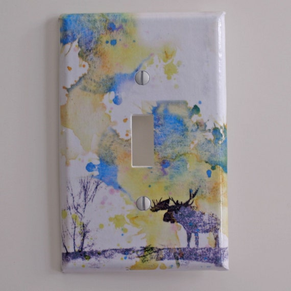 Moose Art Decorative Light Switch Cover Great Room Decor For Kids Baby Nursery Decor Art And For Every Moose Lover