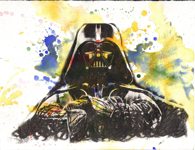 Darth Vader Star Wars Watercolor Painting Original