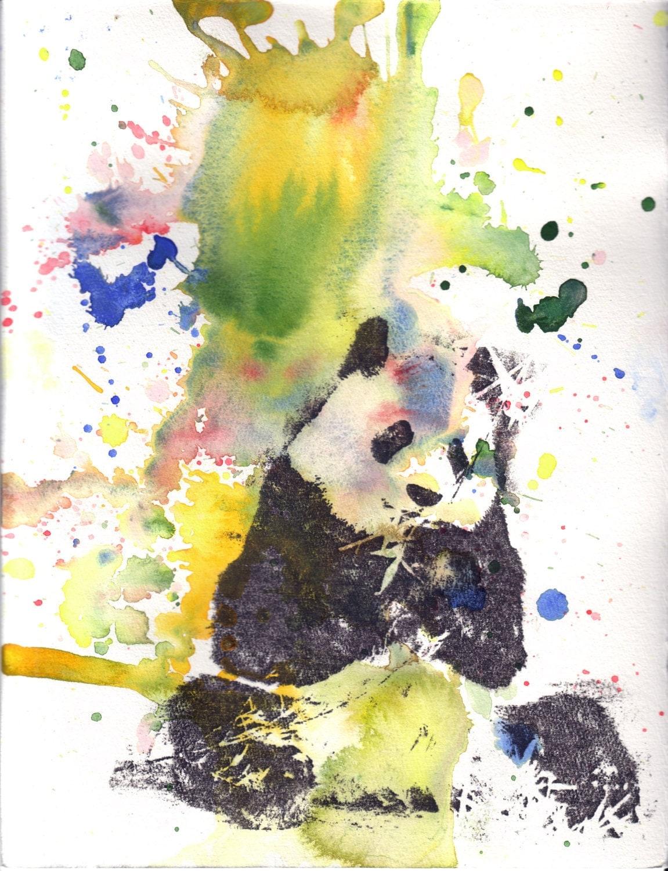 Cute watercolor panda for Cute watercolor paintings