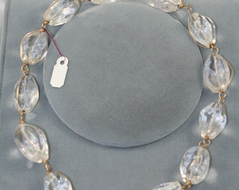 clear quartz necklace wire wrapped nuggets