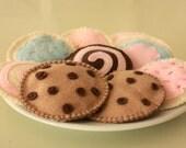 Felt Cookie Set - Felt Pretend Play Food
