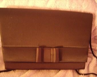 black bow evening purse