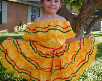 """5 - 6 years old - Mexican """"Fiesta"""" Dress"""