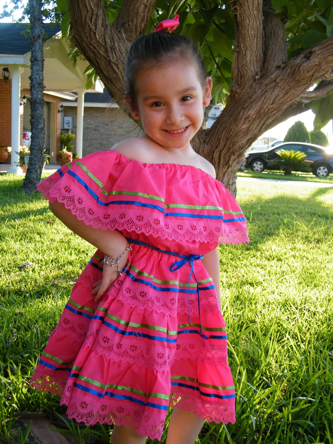 Mexican Fiesta Dress 3T 4T 5T-6T RESERVED for by raquells27