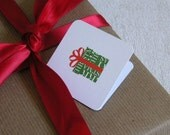 Eco-friendly Merry Christmas Gift Tags (set of 12)