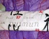 Lavender and flax seed eye pillow  relaxation print, for relaxation, meditation, yoga, savasana