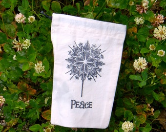 Prayer Bag- Angels of Peace a bag for rosaries mala prayer beads and meditation objects