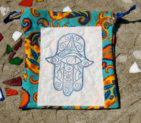 Hamsa hand prayer bag a bag for prayer beads and meditation objects deluxe version