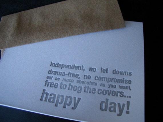 single happy funny greeting card
