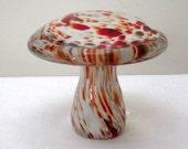 Vintage Murano Art Glass Mushroom Paperweight