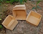 RESERVED for coveredinrain - Vintage Wood Qt Berry Baskets - New Old Stock