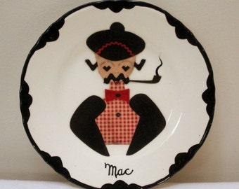 Vintage Handmade Gentleman Mac Plate