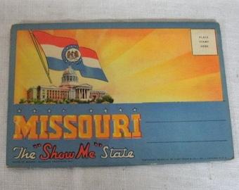 Vintage Show Me Missouri Souvenir Picture Folder