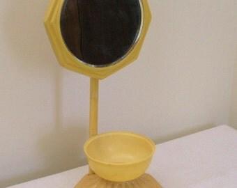 SALE - Antique Vintage Celluloid Shaving Mirror
