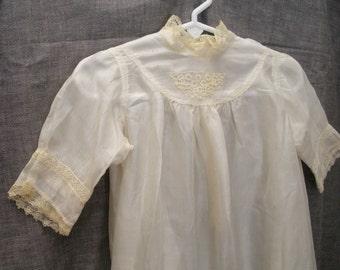 SALE - Vintage Silk Baby Christening Gown - Baby Dress