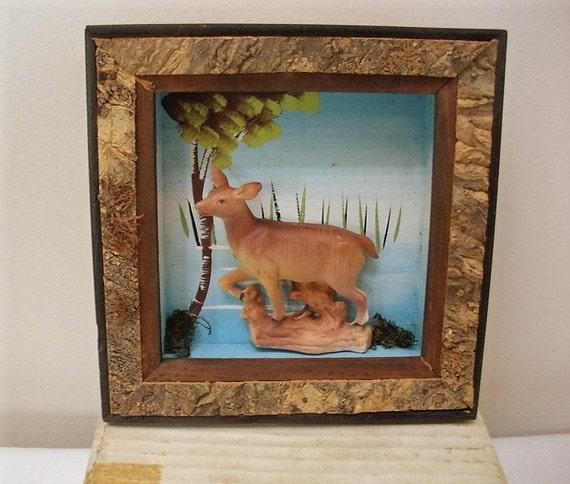 RESERVED for Rikki - 5 Vintage 1950s Adirondack Shadow Box Frames