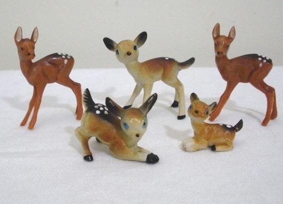 Vintage Small Plastic Deer - Hong Kong