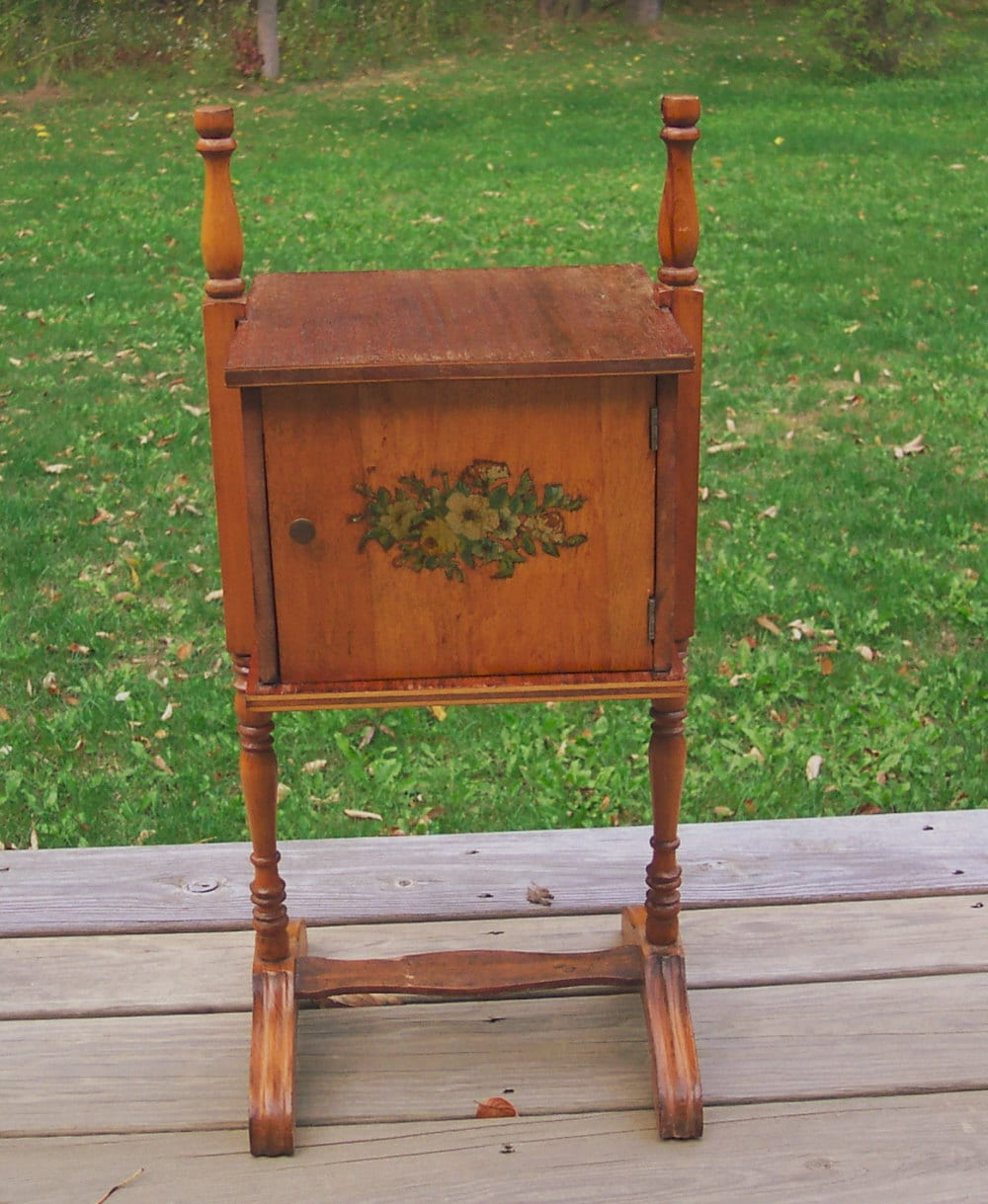 Vintage Copper Lined Smoking Stand Humidor
