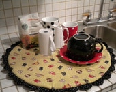 Round Coffee Mug Dish Drainer Quilt