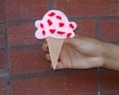 Felt Pin Brooch Ice Cream Cone, Eco-Friendly