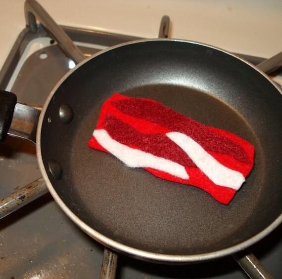 Bacon Felt Pin Brooch in Eco Friendly Felt
