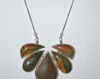 Natural Cherry Creek Jasper, Necklace, One of a kind, Handcrafted, Custom Design