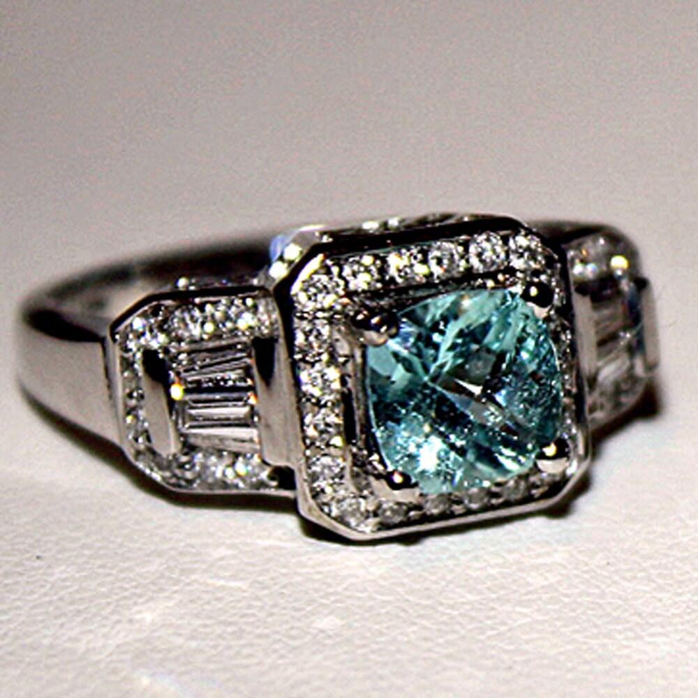paraiba tourmaline engagement ring w by