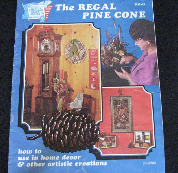 The Regal Pine Cone Craft  Book Home Decor