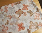 Butterfly Season - Vintage Flat Bedsheet - OldWorldCrafts