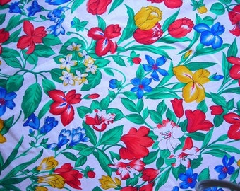 Double sided fabric - flowers
