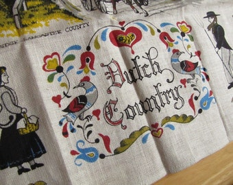 Dutch Country - Vintage Linen Tea Towel