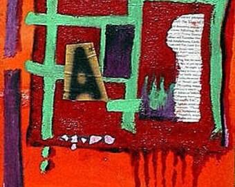 Alphabet Prison - Original Artwork by Kyoko Cole