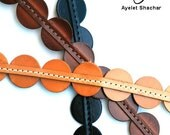 Circles Belt, Brown Leather