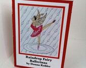 Raindrop Fairy Ballerinas mini book story size of ATC