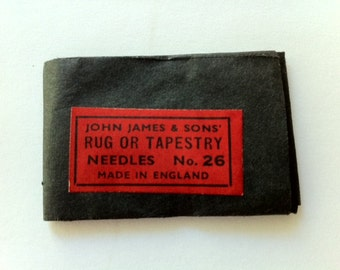 John James & Sons Cross Stitch or Tapestry Needles No.26
