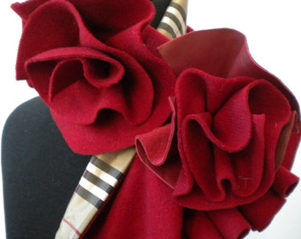 Red Rosette Scarf