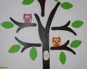 Small Owl For Wooden Tree Wall Decor