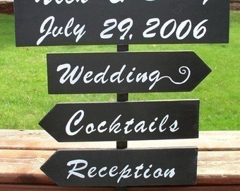 custom wedding signs directional sign wood wedding sign personalized sign outdoor wedding sign beach wedding sign reception decor