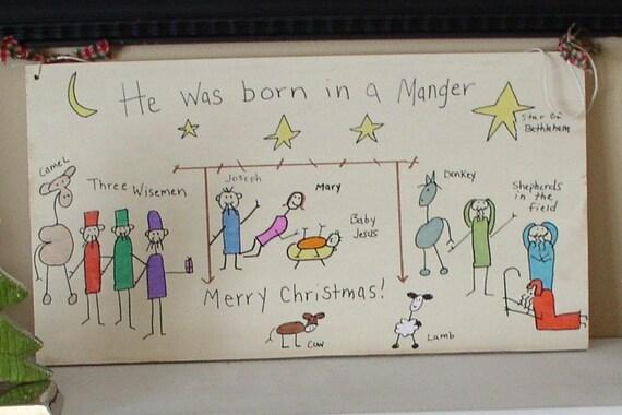 Hand Drawn Nativity Scene