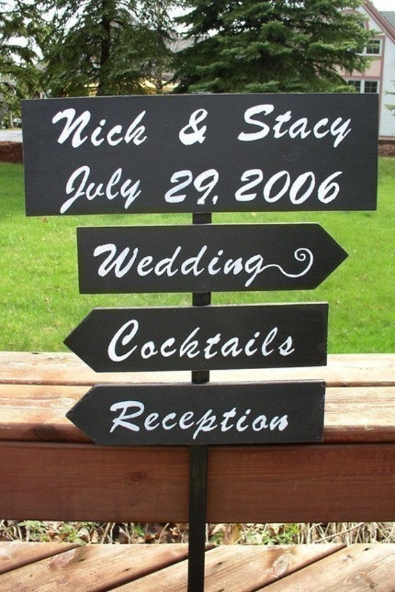 custom wedding signs directional sign wood wedding sign