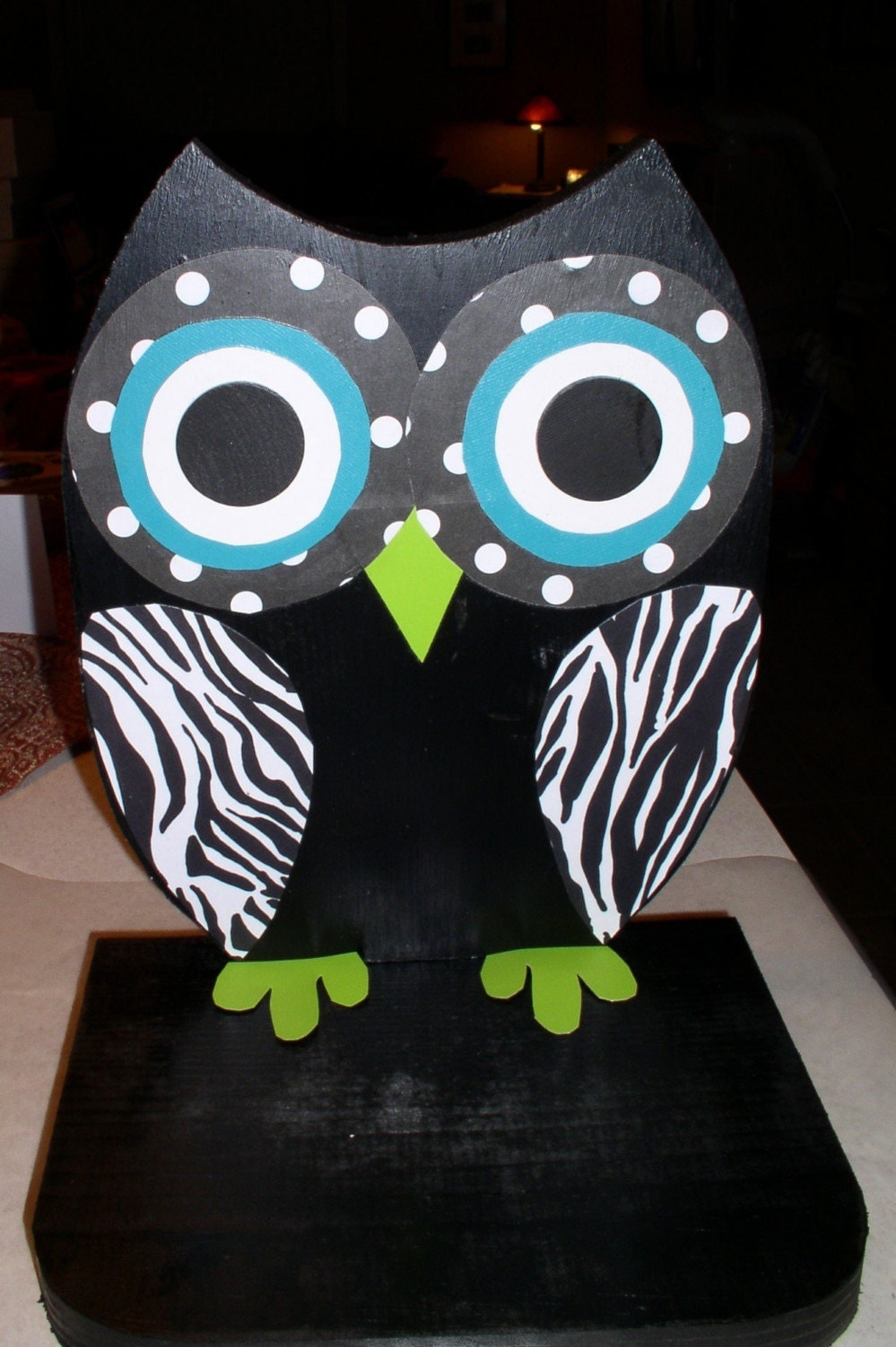 Funky Wooden Owl Shelf