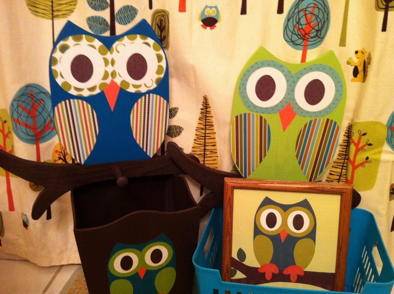 Owl Bathroom Decor Owl Waste Basket Owl Towel By Thewoodenowl